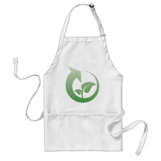 Recycling sign standard apron