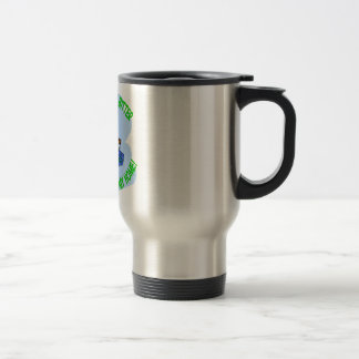 recycling squirrel stainless steel travel mug