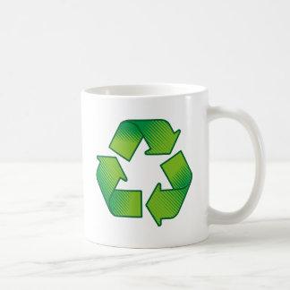 Recycling symbol basic white mug