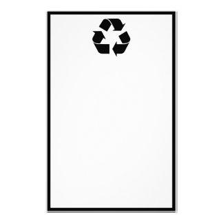 Recycling Symbol - Black Stationery
