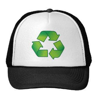 Recycling symbol cap