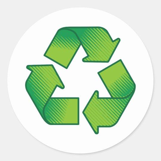 Recycling Symbol Classic Round Sticker Zazzle