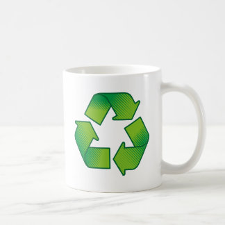 Recycling symbol coffee mug
