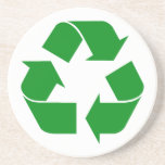 Recycling Symbol - Green Beverage Coasters