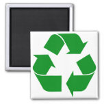 Recycling Symbol - Green Fridge Magnets