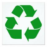 Recycling Symbol - Green Invites