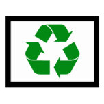 Recycling Symbol - Green Postcard