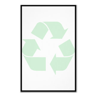 Recycling Symbol - Green Personalized Stationery