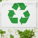 Recycling Symbol - Green Towels