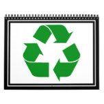 Recycling Symbol - Green Wall Calendars