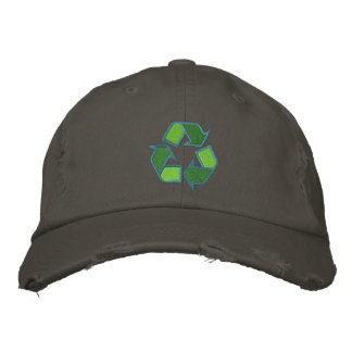 Recycling Symbol Hat Embroidered Baseball Cap