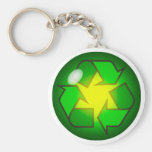 Recycling Symbol Key Chain
