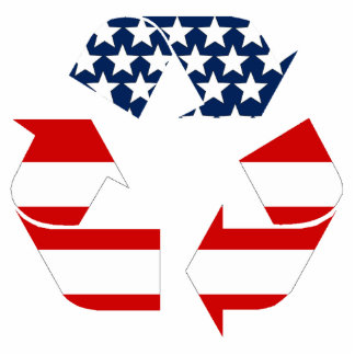 Recycling Symbol - Red White & Blue Photo Cut Out