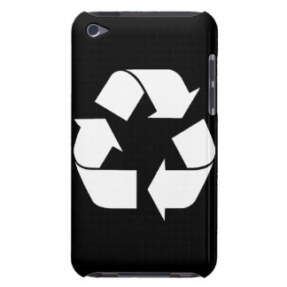 Recycling Symbol - White (For Black Backgrounds) Barely There iPod Covers