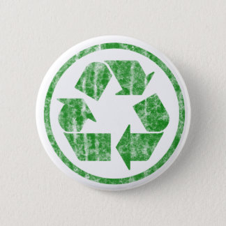 Recycling to Save the Planet Earth, Symbol 6 Cm Round Badge
