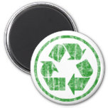 Recycling to Save the Planet Earth, Symbol 6 Cm Round Magnet