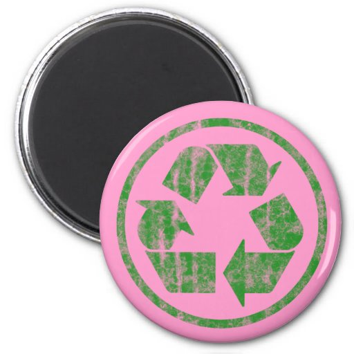 Recycling to Save the Planet Earth, Symbol Fridge Magnet