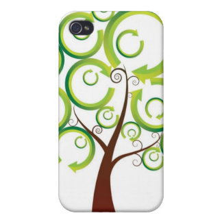 Recycling Tree of Life Cases For iPhone 4