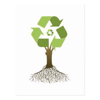 RECYCLING TREE POSTCARD