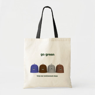 Recycling women (note the right one) canvas bag