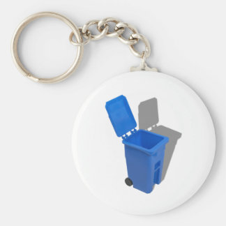 RecyclingBin082010 Basic Round Button Key Ring