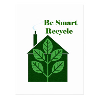Recyle Be Smart Environmental Issues Postcard