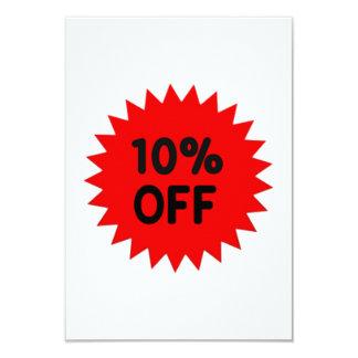 Red 10 Percent Off 9 Cm X 13 Cm Invitation Card