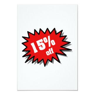 Red 15 Percent Off 9 Cm X 13 Cm Invitation Card