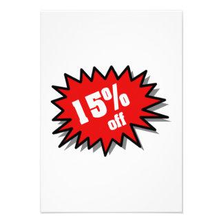 Red 15 Percent Off Invitation