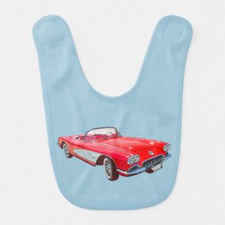 Red 1958 Corvette Convertible Classic Car Bib