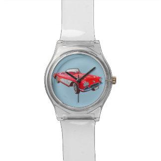 Red 1958 Corvette Convertible Classic Car Wristwatch