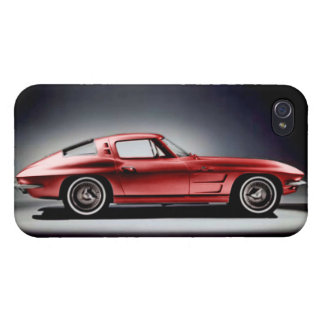Red 1963 Corvette Sting Ray iPhone 4/4S Cover
