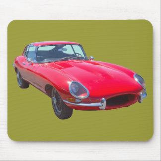 Red 1964 Jaguar XKE Antique Sports Car Mouse Mat