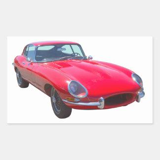 Red 1964 Jaguar XKE Antique Sports Car Sticker