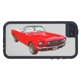 Red 1965 Ford Mustang Convertible iPhone 5 Cover