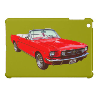 Red 1965 Ford Mustang Convertible iPad Mini Cases