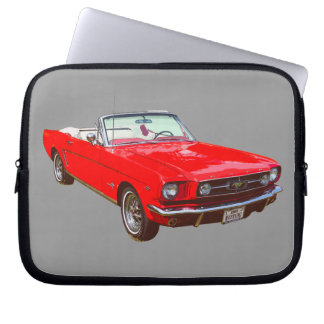 Red 1965 Ford Mustang Convertible Laptop Computer Sleeve