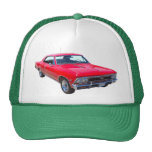 Red 1966 Chevy Chevelle SS 396 Hats