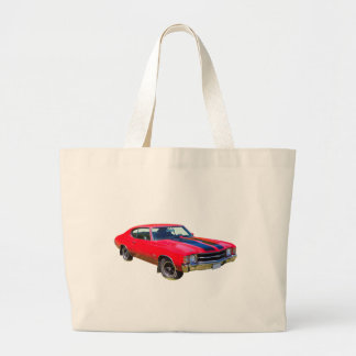 Red 1971 Chevrolet Chevelle SS Muscle Car Canvas Bag