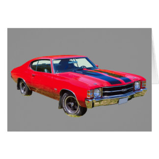 Red 1971 Chevrolet Chevelle SS Muscle Car Card
