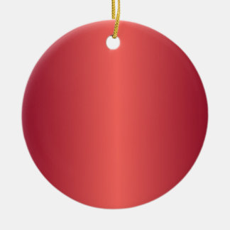 Red 1 - Pastel Red and Burgundy Gradient Ornament
