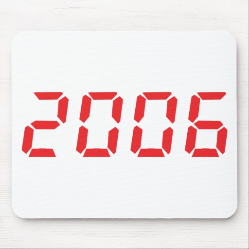 red 2006 icon mousepad