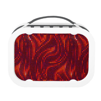 Red 2 Sequinned Bling Effect Lunch Box