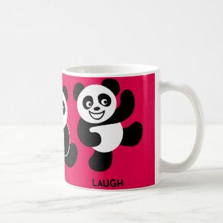 Red - 3 Happy Pandas Coffee Mug