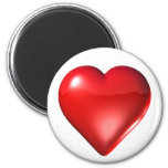 Red 3D Heart Refrigerator Magnet