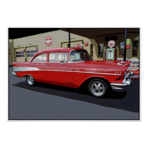 Red '57 Classic  34 x 24 Poster