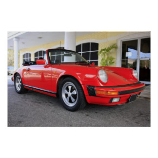 Red 911 Carrera Poster