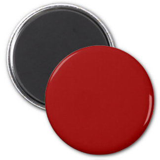 Red #990000 Solid Color 6 Cm Round Magnet