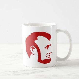 Red Abraham Lincoln Silhouette Coffee Mug