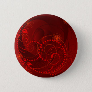 red abstract 6 cm round badge